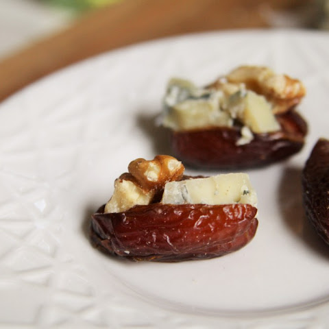 Blue Cheese and Walnut Stuffed Dates