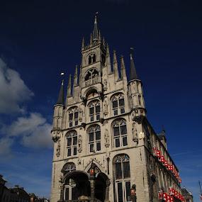 Stadhuis van Gouda. by Anja Kroes - Buildings & Architecture Public & Historical ( plein, gouda, stadhuis )
