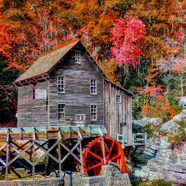 Babcock State Park by Dave Walters - Buildings & Architecture Other Exteriors ( nature, colors, fall, landscape, babcock state park )