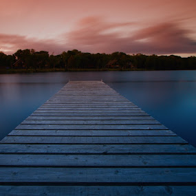 Dawn by Adrian O'Neill - Landscapes Waterscapes ( water, dawn, pier, island )