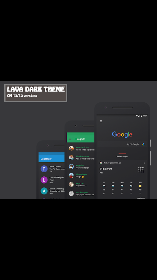 Lava Dark CM12 & CM13 Theme Screenshot 1