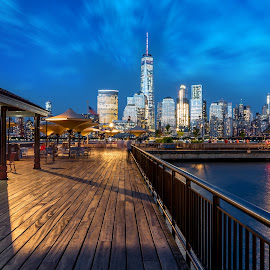 Manhattan by Arnab Dutta - City,  Street & Park  Skylines ( manhattan skyline, park, new york city )