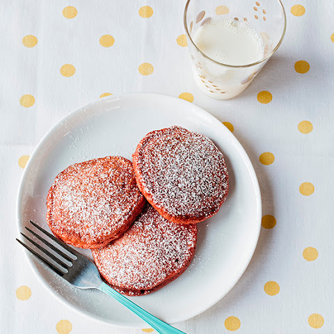 Homemade Red Velvet Pancakes