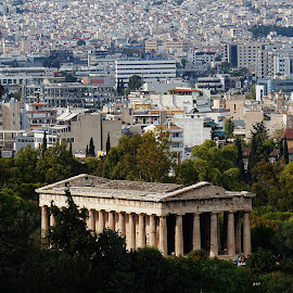 Athens old and new by Costa Philippou - City,  Street & Park  Vistas ( skyline, new, greece, vista, old town, athens )