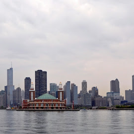 Chicago Skyline by Dawn Hoehn Hagler - City,  Street & Park  Skylines ( chicago skyline, skyline, lake michigan, skyscrapers, buildings, lake, chicago, landscape,  )