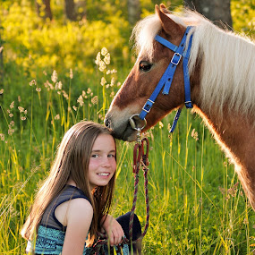 Pony love by Giselle Pierce - Babies & Children Children Candids ( child, miniature horse, little girl, girl, horse, children, gelding, kid )