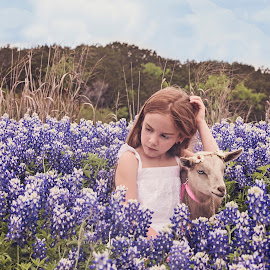 Asa and Molly by Kelley Hurwitz Ahr - Babies & Children Children Candids ( bluebonnets, april 2015 )
