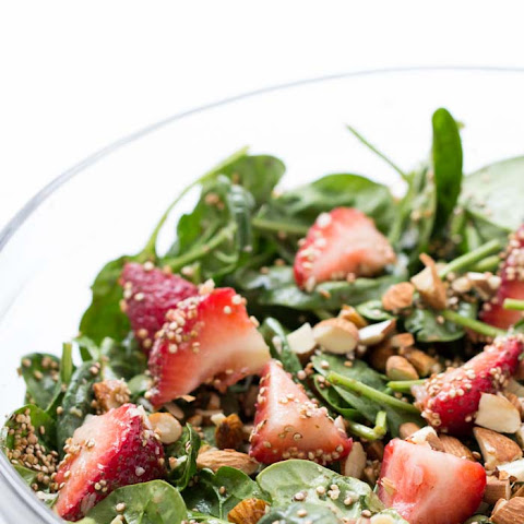 Strawberry Spinach Salad with Toasted Quinoa