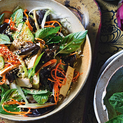 Tofu, Black Fungus And Sesame Salad