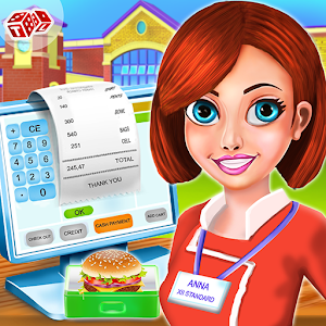 High School Lunch Box Cashier - Kids Game
