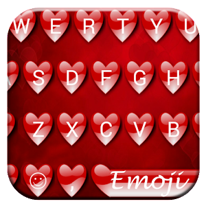 Valentine Red Emoji Keyboard