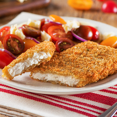 Tuscan Garlic & Herb Tilapia with Heirloom Tomato Salad