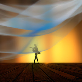 Attitude  by Josh Adamski - Illustration People ( photo illustration, ballet )
