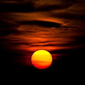 Falling sun by Kiên Lâm - Landscapes Sunsets & Sunrises ( highland, leica r 350mm f48, olympus-e3, kienmm, sunset, vietnam, tam dao )