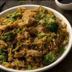 Chicken & Broccoli with Garlic Ginger Rice