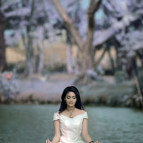 Meditation by Chandra Sugiharto - People Portraits of Women (  false color,  model, women )