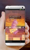 Screenshot of Cloudy Sunset GO Keyboard