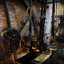 steam engine at Quarry bank mill by Caroline Beaumont - Buildings & Architecture Public & Historical ( steam engine at quarry bank mill )