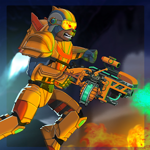 Take your metal gun soldier and kill them all! Arcade space shooter APK Icon