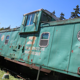 Train museum 4 by Christopher Barker - Transportation Trains ( train, train cars, antiques )