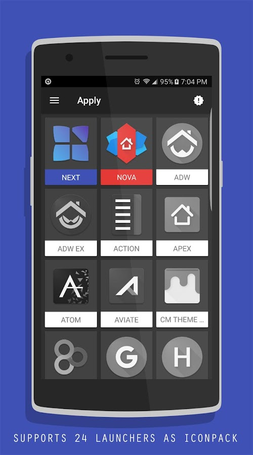 Blue Krome iconpack Next Theme Screenshot 2