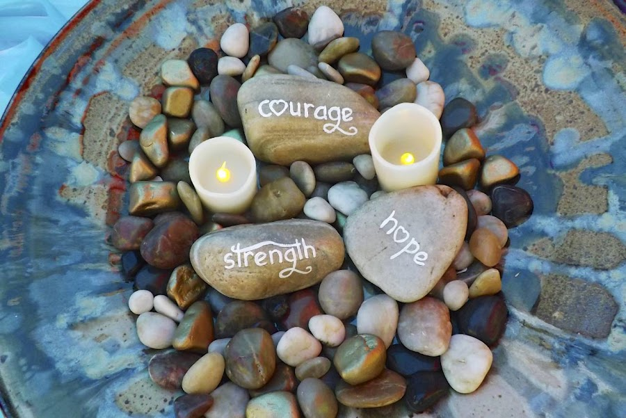 Pebbles by Marney Dainty - Artistic Objects Other Objects ( words, peace, meditation, pebbles, hope )