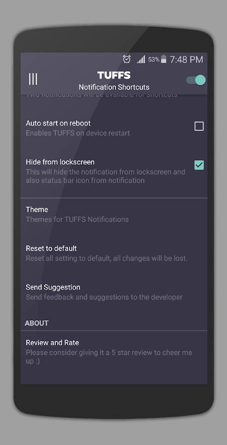 TUFFS Notification Shortcuts Screenshot 14