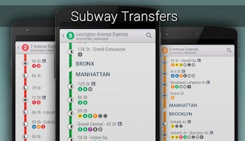 Screenshot of NYC Subway Real-time (MTA)