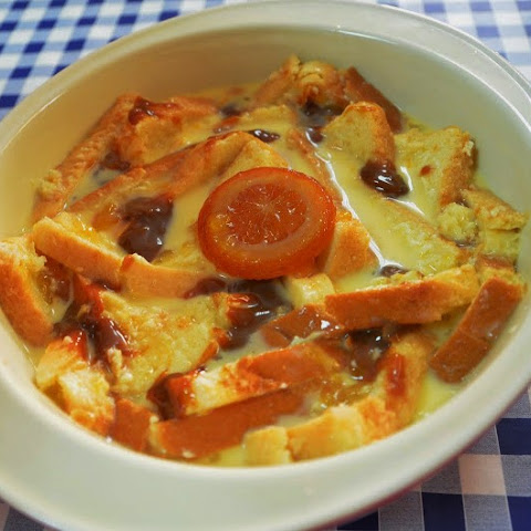 Marmalade Bread Pudding With Caramel