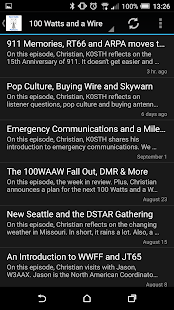 Ham Radio Podcasts Deluxe - screenshot