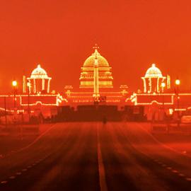 President House India by Sudhakar Kumar - Buildings & Architecture Office Buildings & Hotels ( lighting, night, india, republic day, nikon )