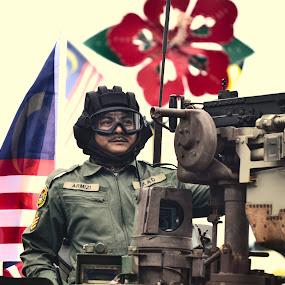 Be Proud by Mohd Khairil Hisham Mohd Ashaari - People Portraits of Men ( army, parade, guard, men, man,  )