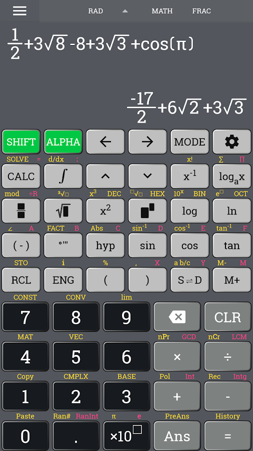 School Scientific calculator casio fx 570 es plus Screenshot 0