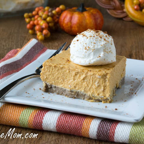 No Bake Sugar-Free Pumpkin Cheesecake