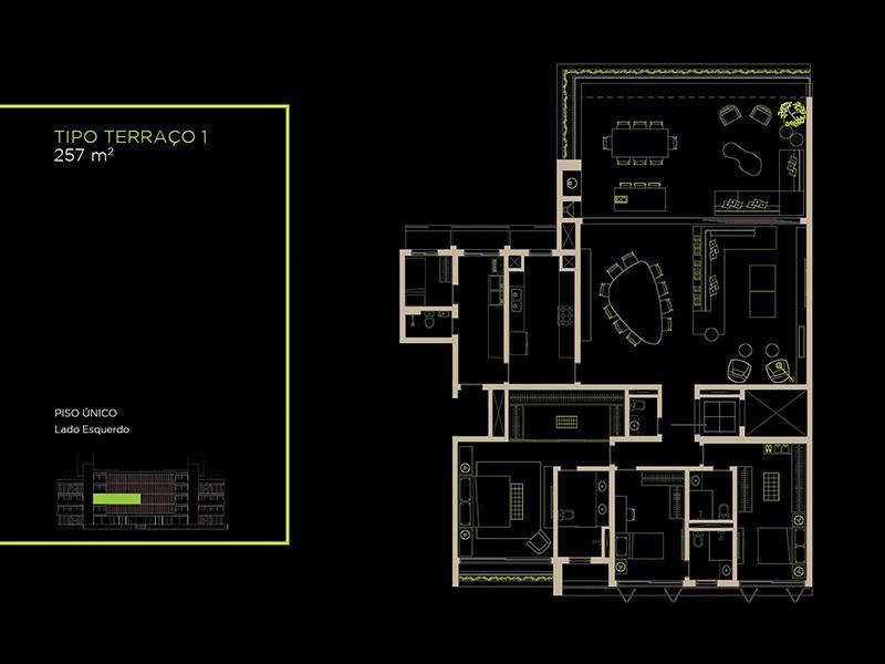 Apto Tipo (22A) - 257 m²