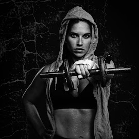 by Kelley Hurwitz Ahr - Black & White Portraits & People ( studio fitness tamara and cara )