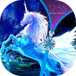 Unicorn Zipper Lock Screen
