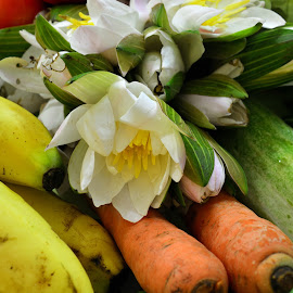 Fresh Vegies by Kuntal Das - Food & Drink Fruits & Vegetables ( green vegetables, banana, cabbage, fruits, vegetables )