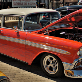 Nice 56 Chevy by Benito Flores Jr - Transportation Automobiles ( chevy, two tone, texas, car show )