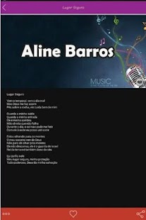 Aline Barros Letras Hits - screenshot