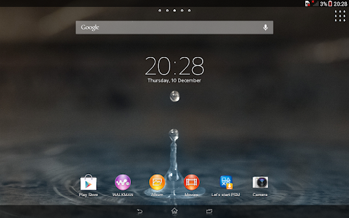 App XPERIA™ Blue Water Theme APK for Windows Phone
