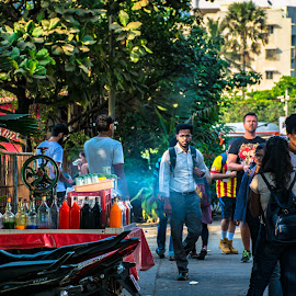 Colour, smoke and more by Hariharan Venkatakrishnan - City,  Street & Park  Street Scenes