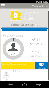 Canadian Cancer Society Events - screenshot