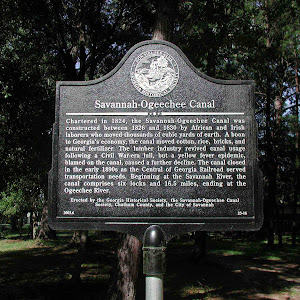 Chartered in 1842, the Savannah-Ogeechee Canal was constructed between 1826 and 1830 by African and Irish laborers who moved thousands of cubic yards of earth. A boon to Georgia´s economy, the canal ...