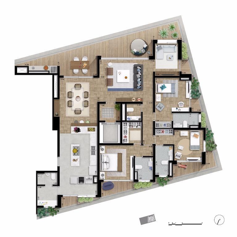 Apto Tipo Final 2 - 210 m²
