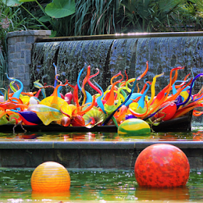 Have a Ball by Leah Zisserson - Artistic Objects Glass ( water, glass art, balls, pool, colors, glass, georgia, tubes,  )