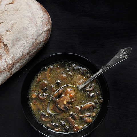 Cremini Mushroom Soup for the Winter Solstice