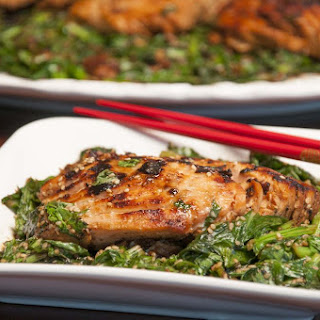 Sesame Miso Salmon with Turnip Greens