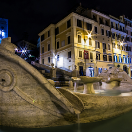 piazza di Spagna. by Franco Menenti - Buildings & Architecture Statues & Monuments ( ancient, rome, colors, fountain, monument, nightscape )