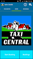 Screenshot of Taxi Central Booking App